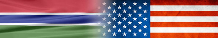 Flags of the Gambia and the United States